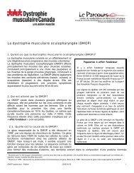 La dystrophie musculaire oculopharyngée (DMOP)