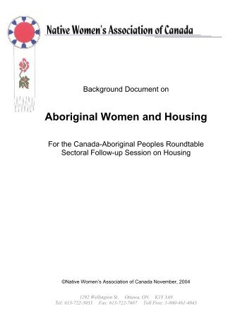 Aboriginal Women and Housing - Turtle Island Native Network