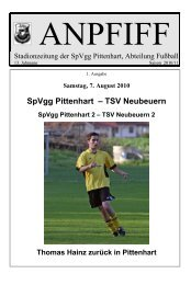 SpVgg Pittenhart – TSV Neubeuern