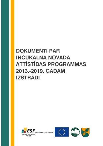 Inčukalna novada Attīstības programma - Rīgas Plānošanas Reģions