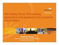 New vaccines and vaccine development - OIE Africa