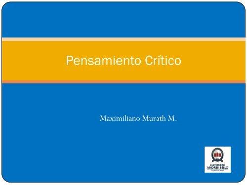 Módulo 4: Pensamiento Crítico - My Laureate