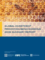 Global Investment Promotion Benchmarking 2009: Summary Report