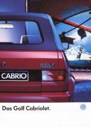 Das Golf Cabriolet - Volkswagen Classic