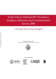 South African National HIV Prevalence, Incidence, Behaviour and ...