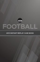 2013 NCAA Football Instant Replay Case Book
