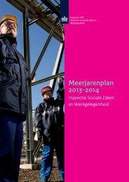Meerjarenplan 2013-2014 Inspectie SZW