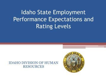 Performance Expectations & Rating Levels PowerPoint Presentation
