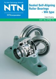 Sealed Self-Aligning Roller Bearings - WA type - Ntn-snr.com