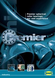 Premier spherical roller bearings: our vast experience - NTN Bearing