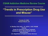 October 24, 2008 - California Society of Addiction Medicine