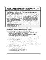 Liberal Education Program Course Proposal Form