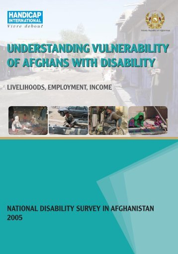understanding vulnerability of afghans with disability - Handicap ...