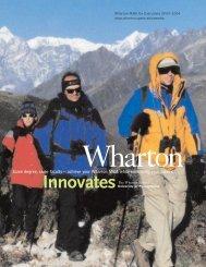 Wharton MBA for Executives Catalog - The Wharton School of the ...