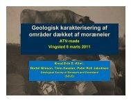 Geologisk karakterisering af områder dækket af moræneler