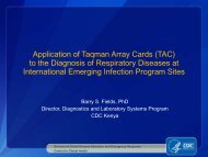 Application of Taqman Array Cards (TAC) to the Diagnosis of ... - PSA