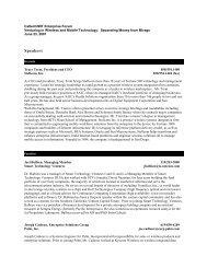 Speaker Biographies - Caltech/MIT Enterprise Forum