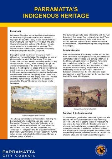 Parramatta's Indigenous Heritage - Parramatta City Council