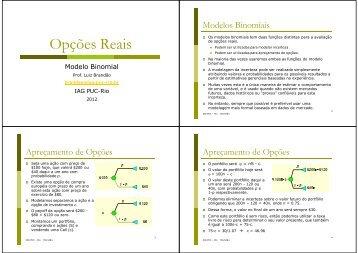 Modelo Binomial - IAG - A Escola de Negócios da PUC-Rio
