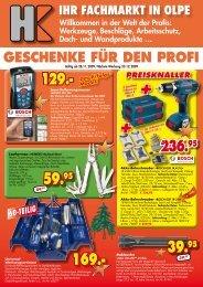 Geschenke für den Profi - Heller+Köster Handwerks