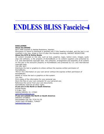 ENDLESS BLISS FASCICLE-4