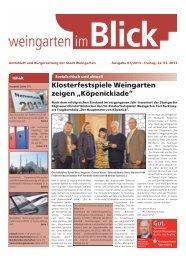 Ausgabe 07/2013 - Weingarten im Blick