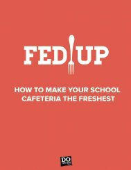 how to make your school cafeteria the freshest - Do Something