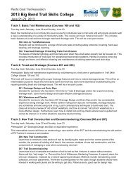 2013 Big Bend Trail Skills College - Pacific Crest Trail Association