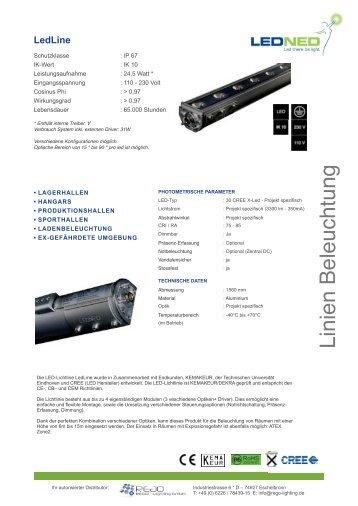 Technische Daten - REGO-Lighting GmbH
