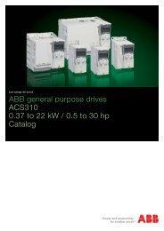 ABB low voltage AC drives, ABB general purpose ... - VAE ProSys sro