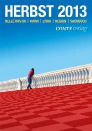 Herbst 2013 - Conte Verlag