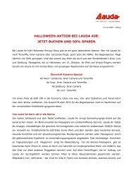 HALLOWEEN-AKTION BEI LAUDA AIR: JETZT BUCHEN UND 50 ...
