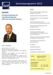 Seminarprogramm 2013 - IVD Mitte Ost