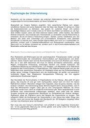 Thomas Lenz - Psychologie der Unternehmung - diebasis