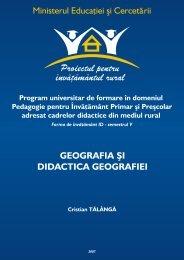 geografia şi didactica geografiei - Biblioteca Ştiinţifică a Universităţii ...