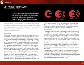 GLT Annual Report 2008 - WGLT