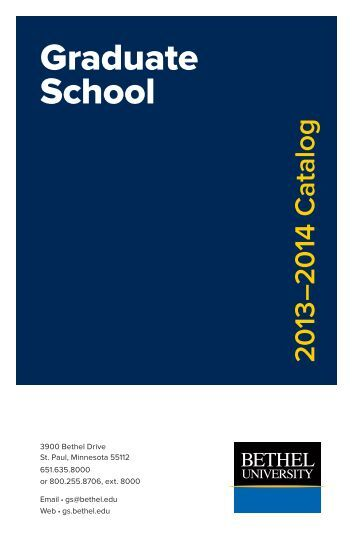 Academic Programs and Disciplines - Graduate School - Bethel ...