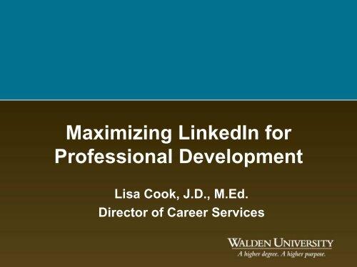 Maximizing LinkedIn for Professional Development - My Laureate ...