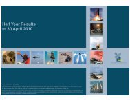 Half Year Results to 30 April 2010 - Chemring Group PLC