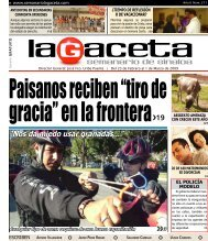 nos da miedo usar granadas: policías - SEMANARIO LA GACETA