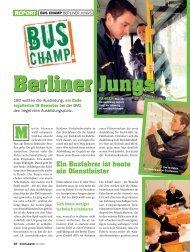 Berliner Jungs - Werd Busfahrer