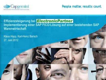 Karl-Heinz Barisch (Head of Financial Transformation ... - HIS-Tagung