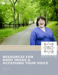 resources for body image & accessing your voice - Curvy Yoga
