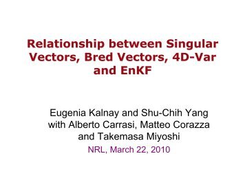 Relationship between singular vectors, bred vectors, 4DVar, and EnKF