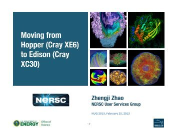 Moving from Hopper (Cray XE6) to Edison (Cray XC30) - NERSC