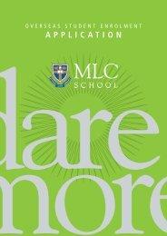 Overseas Student Enrolment Application Form - MLC School