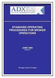 Standard Operating Procedures For Broker Operations - Abu Dhabi ...
