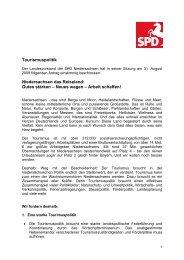Beschluss zur Tourismuspolitik des SPD ... - Daniela Behrens