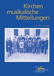 Kirchenmusikalische Mitteilungen Nr 124 - April 2008 - Amt für ...