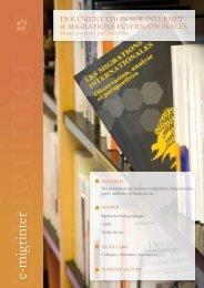 e-migrinter 2009 n°03 couverture - Maison des Sciences de l ...
